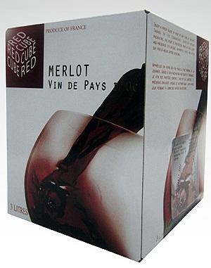 Rượu vang bịch Pháp Cube vin de Pays 3 lít