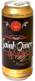 Bia lon Saint omer 5%