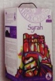 Rượu vang bịch Syrah  5 lít