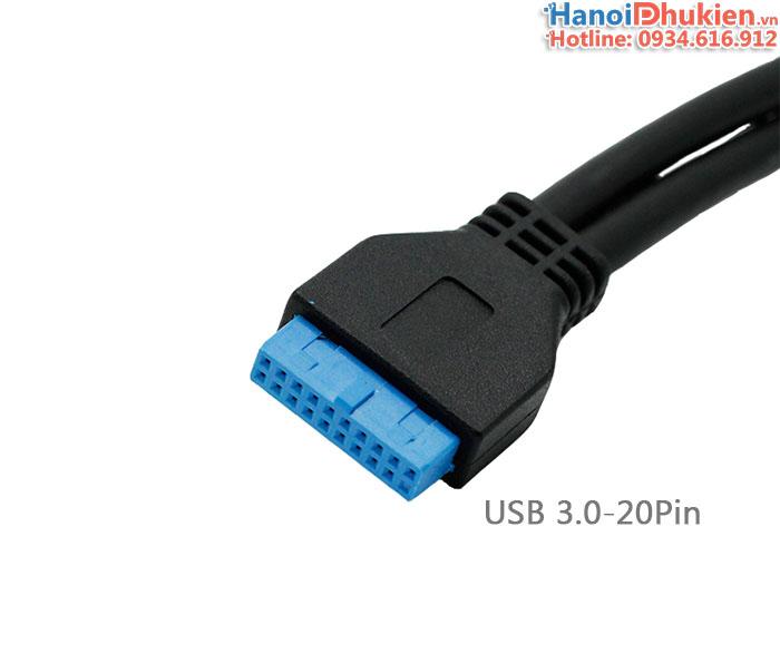 Cáp USB 3.0-20Pin Mainboard ra 2 USB 3.0 dài 50cm