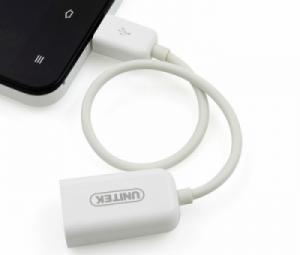 Cáp Micro USB sang USB cái (cáp Micro USB OTG) Unitek Y-C445