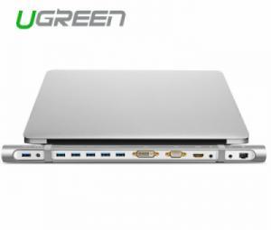 Bộ chuyển đổi USB 3.0 sang HDMI/DVI/VGA/Hub USB/Ethernet Ugreen 40258