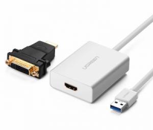 Cáp USB 3.0 sang HDMI DVI Ugreen 40229 hỗ trợ HD1080 2K
