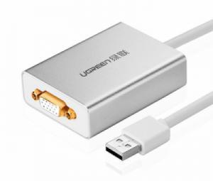 Cáp USB 2.0 sang VGA Ugreen 40244 hỗ trợ Windows và Macbook