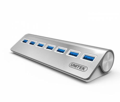 Bộ chia USB 3.0 hỗ trợ nguồn ngoài 7 cổng Unitek Y-3187