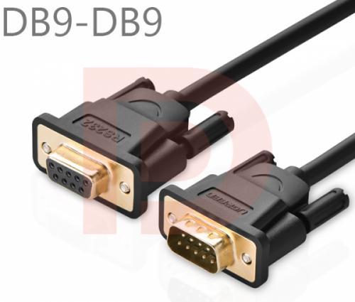 Cáp RS232 5M (DB9M-DB9F, COM to COM) Ugreen 20148