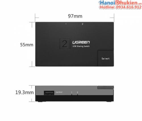 USB 2.0 Sharing Switch 2x1 Ugreen 30345
