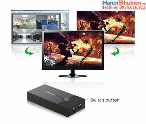 KVM Switch USB 2 Port Ugreen 30357 chính hãng