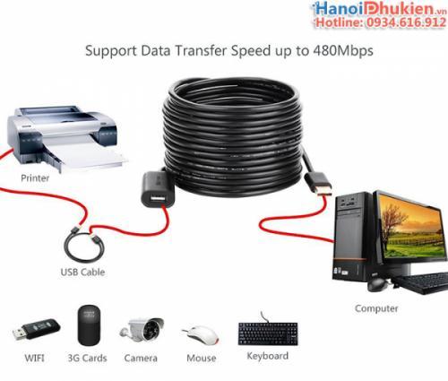 Cáp nối dài USB IC khuếch đại 15M-20M-25M-30M Ugreen US121