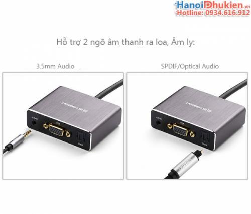 Cáp HDMI sang VGA Audio 3.5mm SPDIF Ugreen 40282 chính hãng