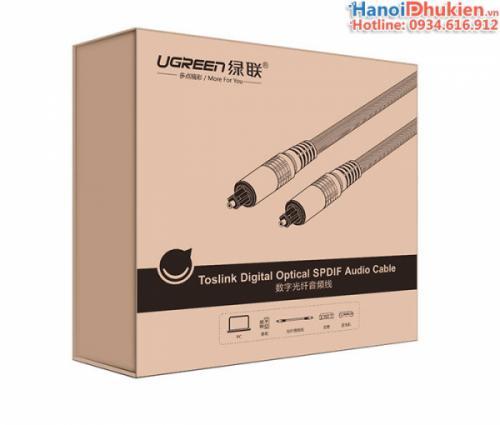Cáp Toslink Optical 1M Ugreen 10539 chính hãng