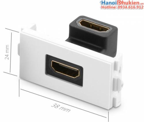 Đế HDMI âm tường bẻ góc 90 độ - HDMI wallplate Ugreen 20318