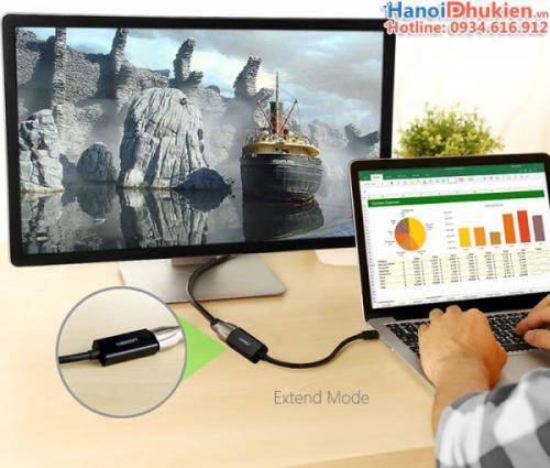 Cáp chuyển Mini Displayport, thunderbolt sang HDMI Female Ugreen 10461 màu đen