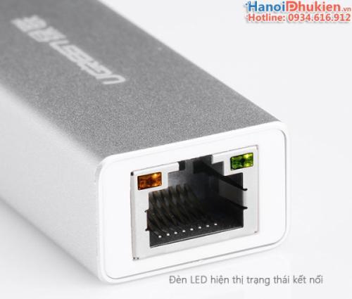 Cáp USB 3.0 sang LAN 1000 Mbps Gigabit Ugreen 20258 vỏ nhôm