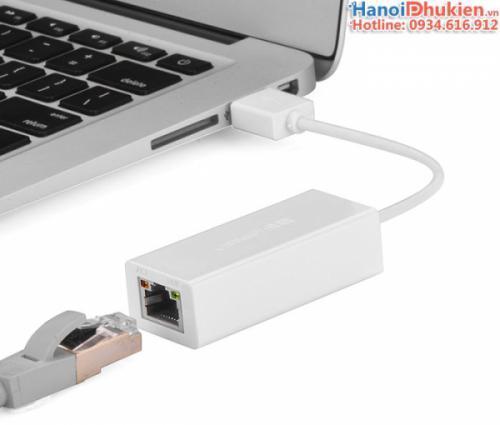 Cáp USB 3.0 sang LAN 1000 Mbps Gigabit Ugreen 20255 vỏ nhựa ABS