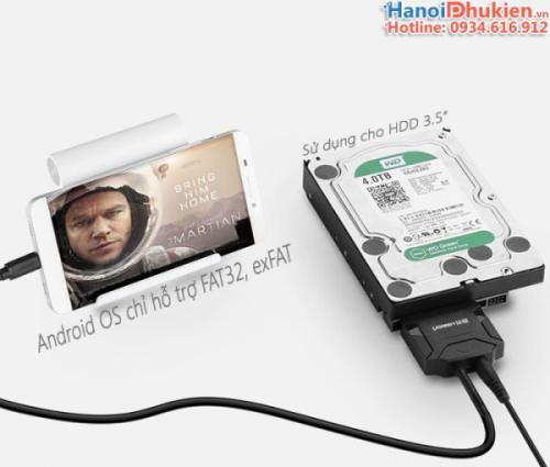Cáp USB 3.1 Type C sang SATA Ugreen 40272 chính hãng