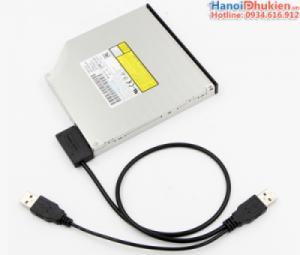 Cáp kết nối DVD Laptop sang USB (USB sang SATA 7+6)