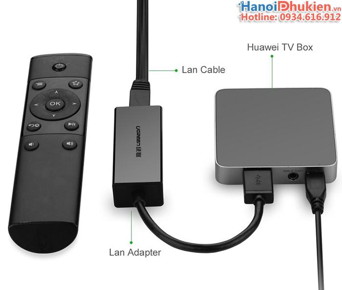 Cáp USB sang LAN 10-100Mbps Ugreen 20254